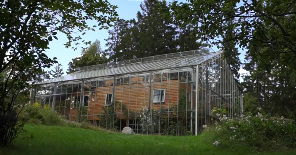 house wrapped greenhouse sweden designboom 1200